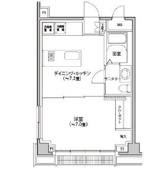 カスタリア都立大学306号室