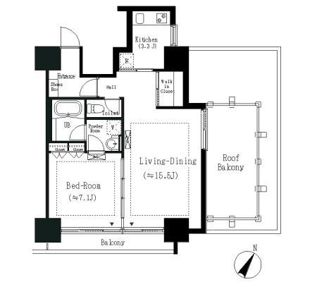 エルスタンザ白金401号室