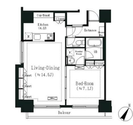 エルスタンザ白金802号室