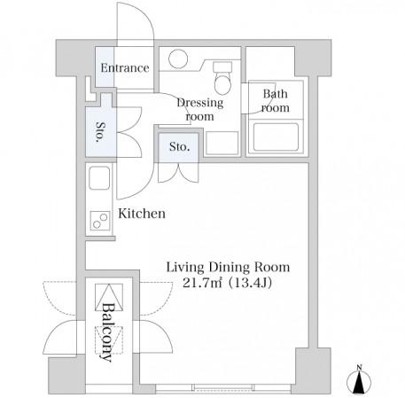 麻布十番ハイツ402号室