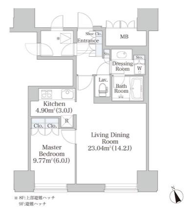 プラティーヌ四谷905号室