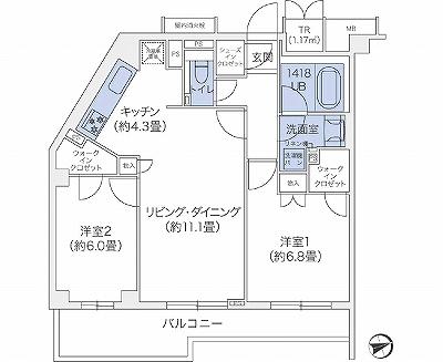 代官山BLESS鉢山212号室