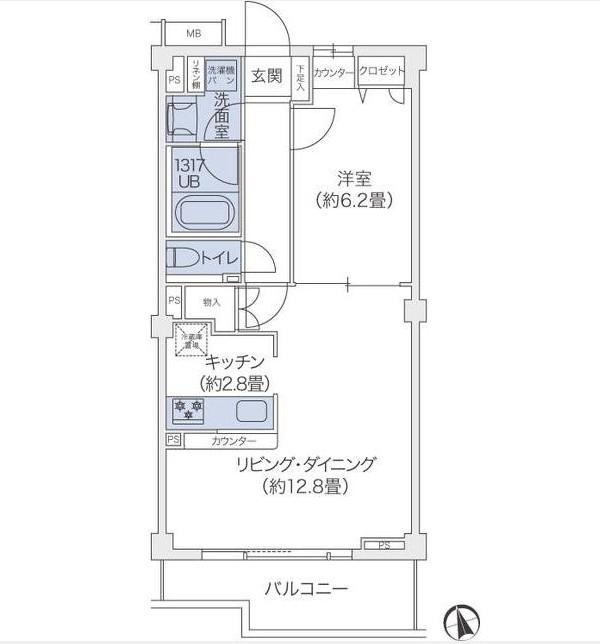 代官山BLESS鉢山309号室