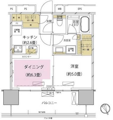 ザ・パークハウス渋谷美竹202号室