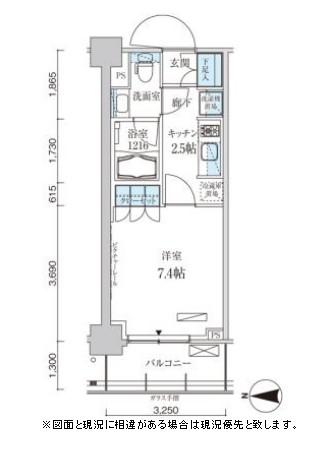 パークアクシス菊川ステーションゲート806号室
