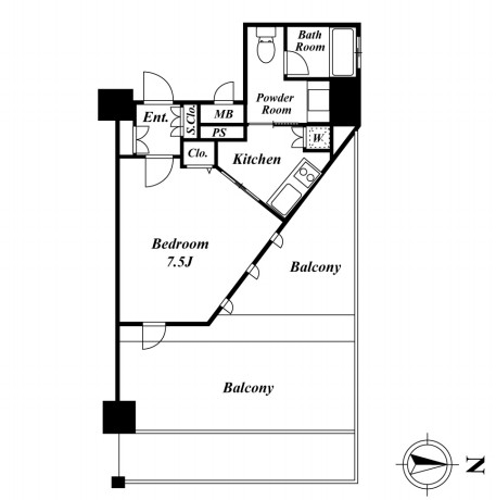 KDXレジデンス品川シーサイド319号室