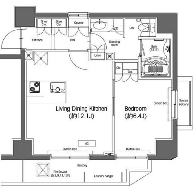 コンフォリア九段803号室
