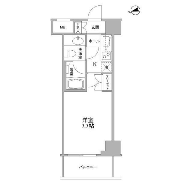 コンフォリア東中野DEUX203号室