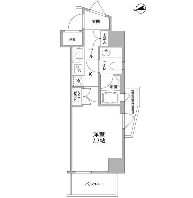 コンフォリア東中野DEUX605号室