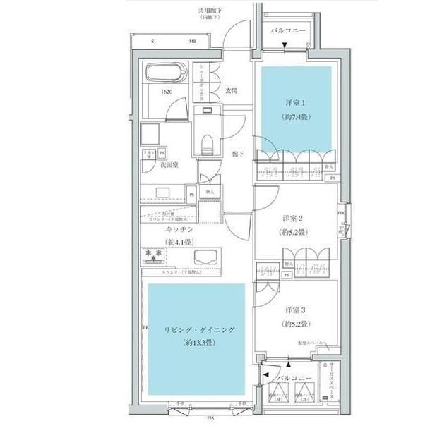 ザ・パークハウス広尾羽澤313号室