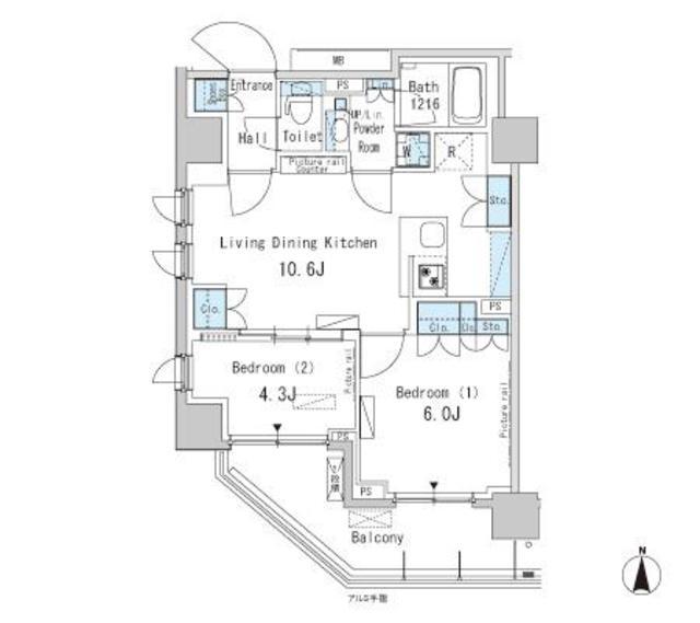 パークアクシス蒲田ステーションゲート1306号室