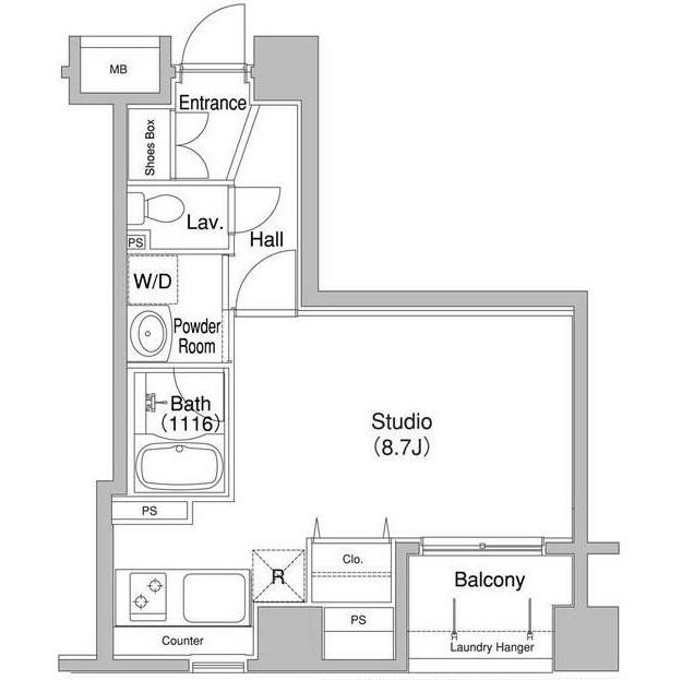 コンフォリア銀座EAST1005号室