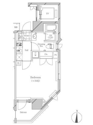 フトゥールス南麻布304号室