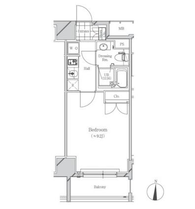 フトゥールス南麻布603号室