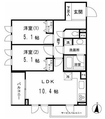 マーサル中野坂上203号室