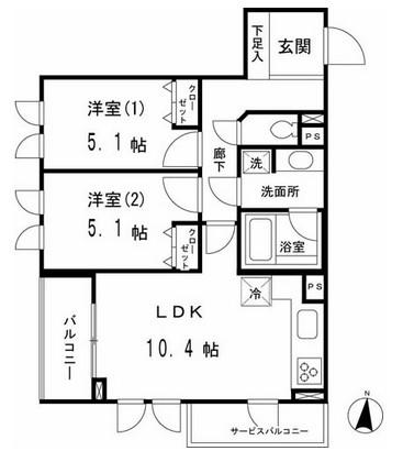 マーサル中野坂上303号室