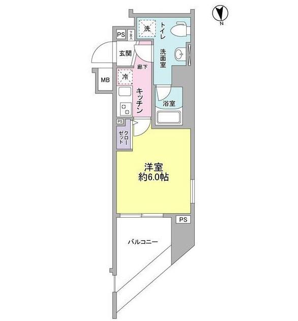 メインステージ白金高輪駅前201号室