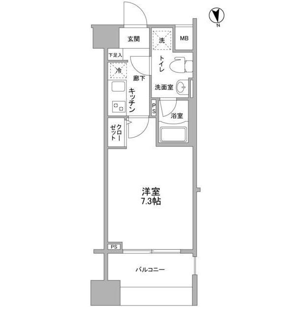 メインステージ白金高輪駅前202号室
