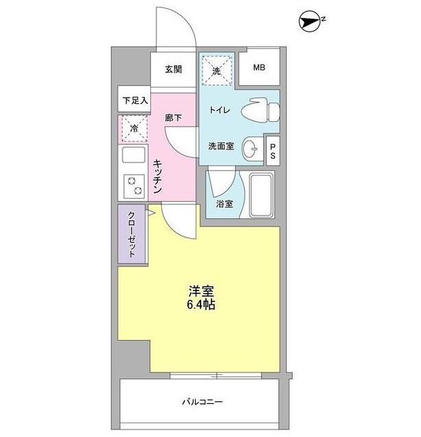 メインステージ白金高輪駅前206号室