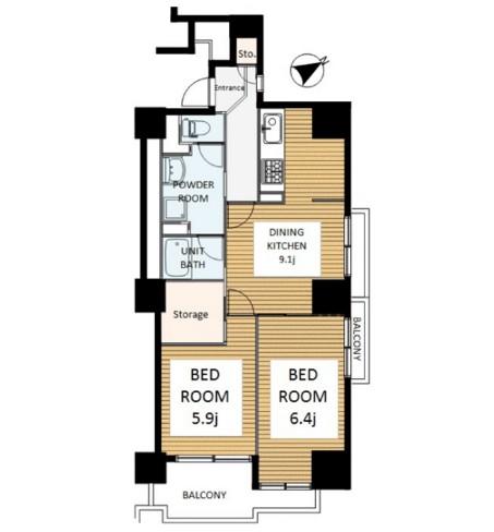 六本木ビュータワー1901号室