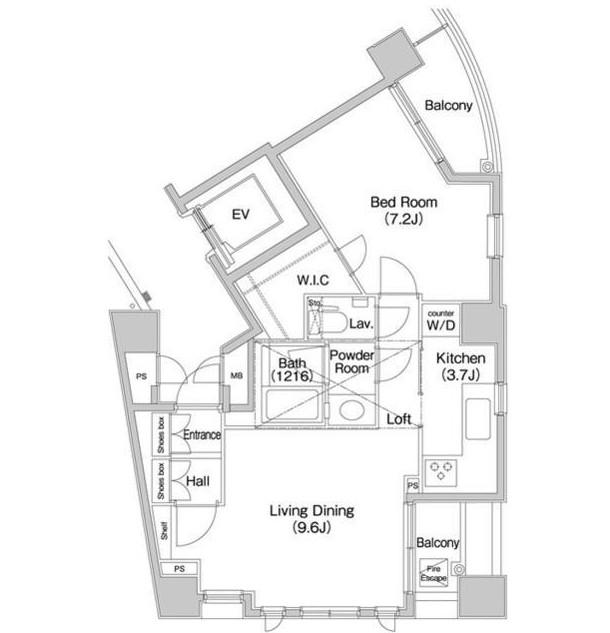 コンフォリア愛宕1101号室