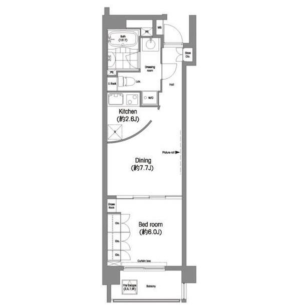 コンフォリア西麻布701号室