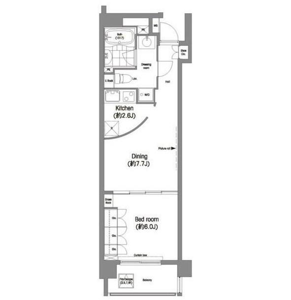コンフォリア西麻布801号室
