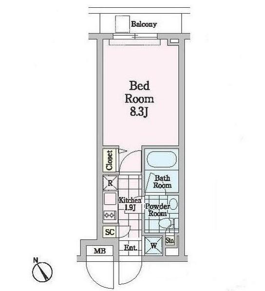 クロノガーデン神楽坂104号室