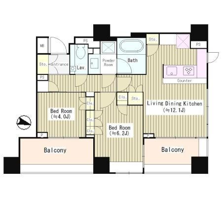 パークリュクス西麻布304号室