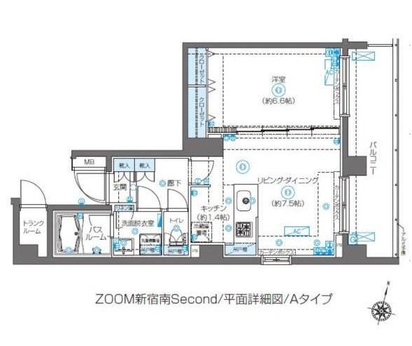ZOOM新宿南Second301号室