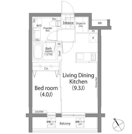 ラ・プレス神宮前206号室