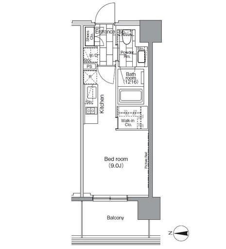パークハビオ芝浦1204号室