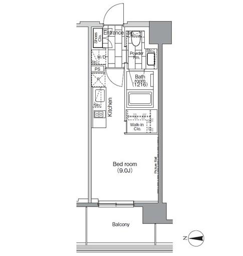 パークハビオ芝浦406号室