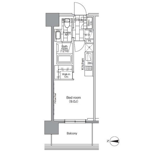 パークハビオ芝浦805号室