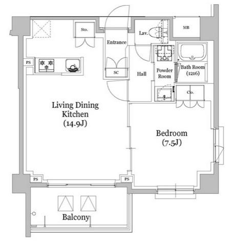 リビオメゾン西新宿401号室