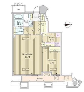 MOMENTO SHIODOME2108号室