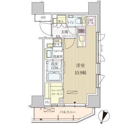 パークアクシス赤坂見附1006号室