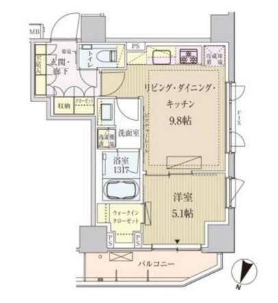 パークアクシス赤坂見附1205号室