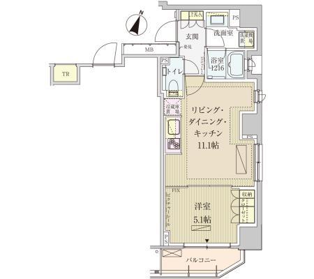 パークアクシス赤坂見附1301号室