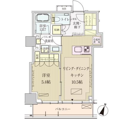 パークアクシス赤坂見附1303号室