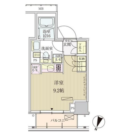 パークアクシス赤坂見附607号室