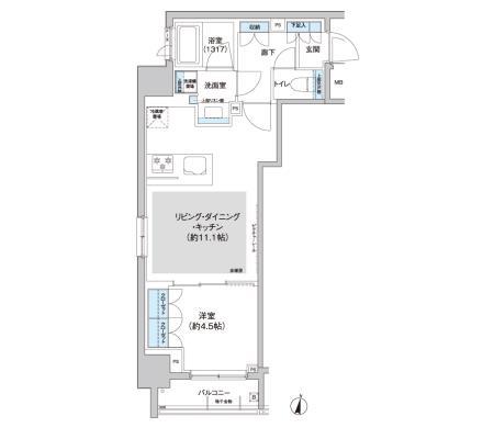 クレヴィアリグゼ西新宿1304号室