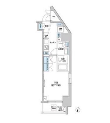 クレヴィアリグゼ西新宿201号室