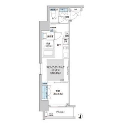 クレヴィアリグゼ西新宿405号室