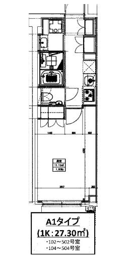ヒューリックレジデンス新宿戸山102号室