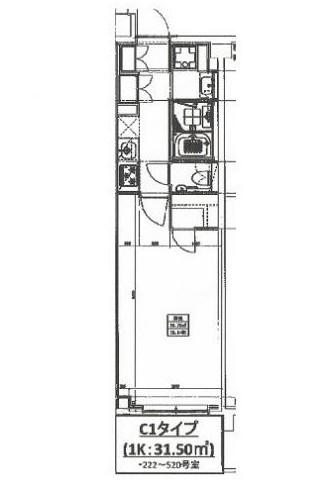 ヒューリックレジデンス新宿戸山322号室