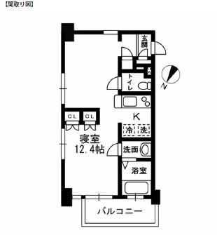 レジディア代々木Ⅱ403号室
