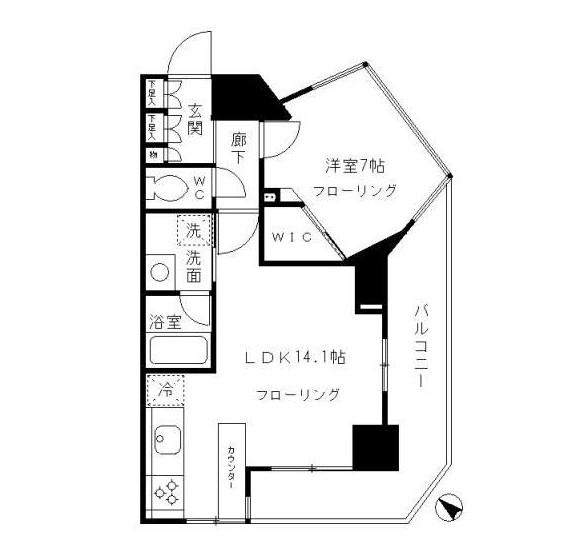 パークリュクス渋谷北参道mono1104号室