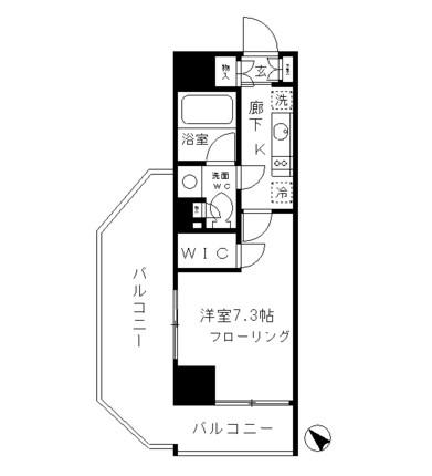 パークリュクス渋谷北参道mono501号室