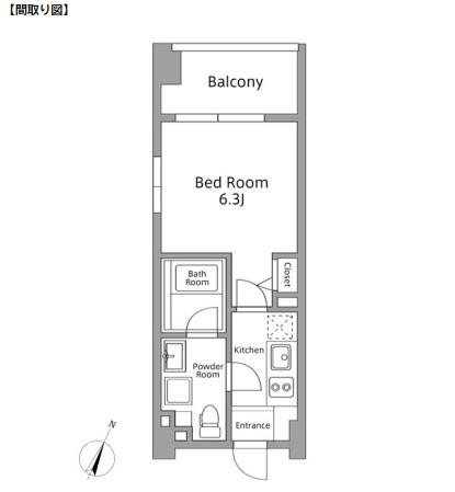 レジディア築地401号室